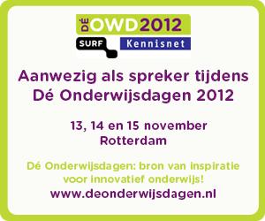 Wij zijn aanwezig tijdens de Onderwijsdagen 2012.